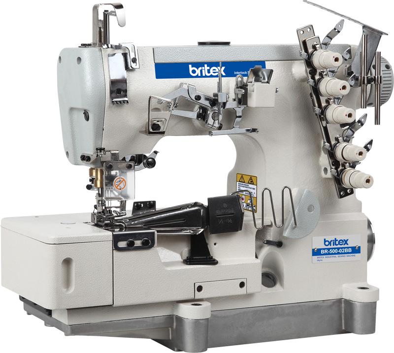 Máy May Viền Bằng LIỀN TRỤC 03 kim 05 chỉ ,Có kèm Cử Viền - Hiệu: Britex, Model: BR-500D-02BB.