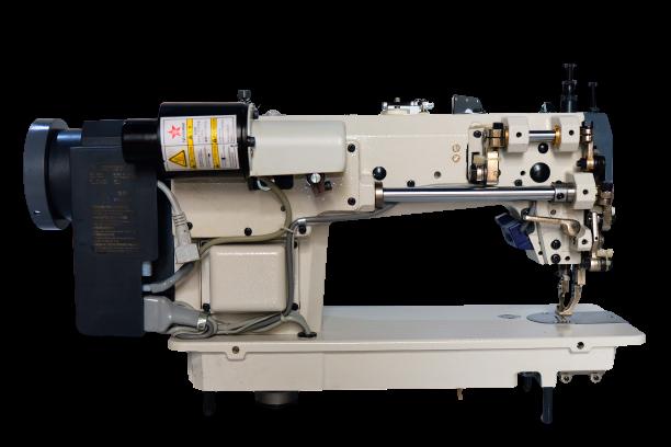 Máy may 01 kim Điện Tử Ổ lớn chân vịt bước (Máy cào bơi), nâng chân vịt cắt chỉ tự động - Hiệu Britex, Model: BR-0388-D4