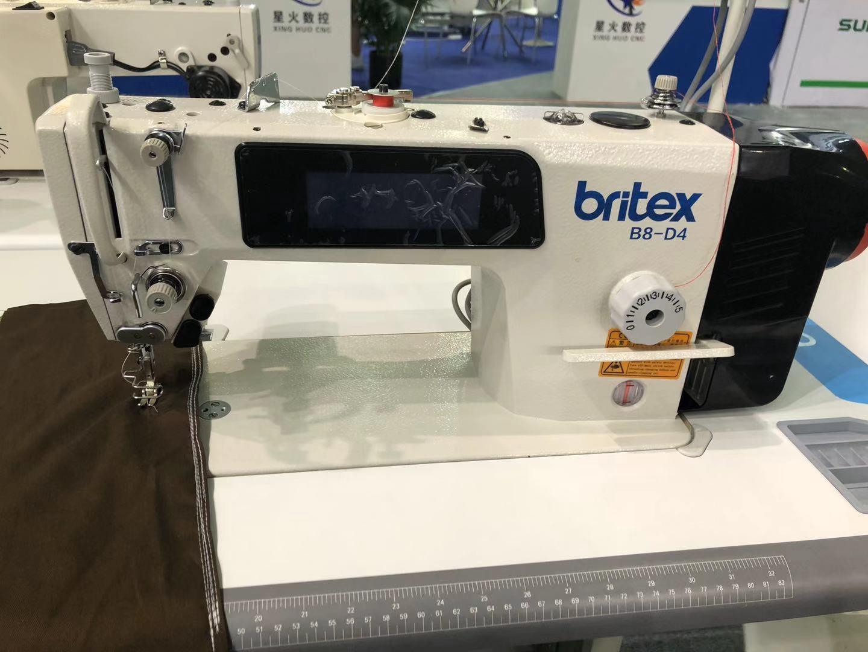 Máy may 01 kim điện tử DẦU KÍN, Cắt chỉ tự động (chỉ thừa 3mm), Màn hình cảm ứng - Hiệu Britex, Model: BR-B8-D4.
