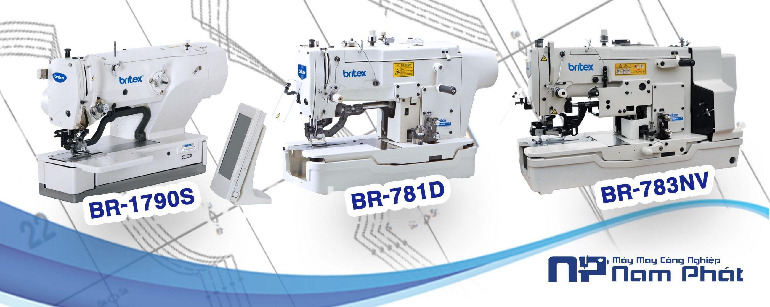 Máy Khuy Điện tử BR-1790S - liền trục BR-781D